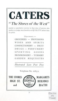 Advertisement for Caters - The Stores of the West, c.1930