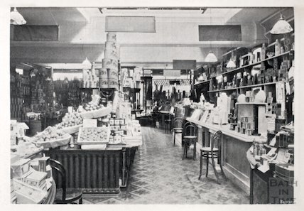 Provisions and section of the Grocery Department, Cater, Stoffell and Fortt, High Street, Bath c.1920