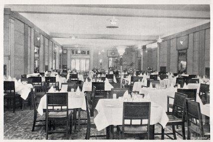 The new ground floor restaurant at Fortts, Milsom Street, Bath c.1920