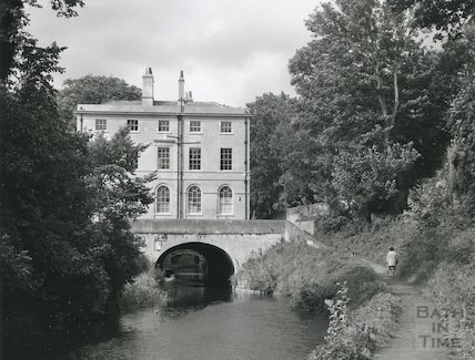 Cleveland House, Sydney Gardens, Kennet and Avon Canal, Bath October 1974