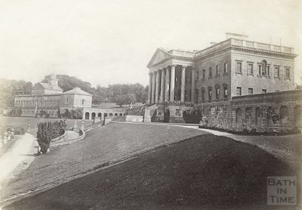 Prior Park, Bath. The main block and east wing c.1890