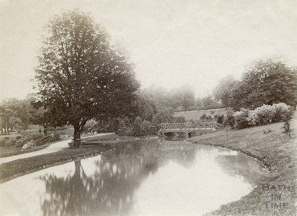 Park Lake, Royal Victoria Park c.1895