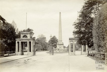 Entrance to Royal Victoria Park from Marlborough Lane, Bath, c.1890
