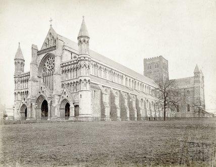 St Albans Abbey, Hertfordshire, c.1880