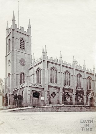 Christ Church, Bath exterior c.1890