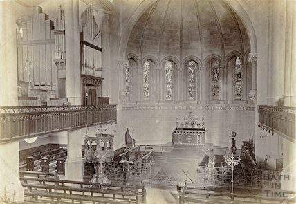 Christ Church, Bath interior c.1890