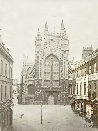 West front of Bath Abbey, c.1875