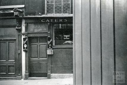 Cater, Stoffell & Fortt Ltd doorway, Upper Borough Walls, Bath 1954