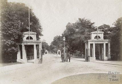 The entrance to Royal Victoria Park, Bath c.1885
