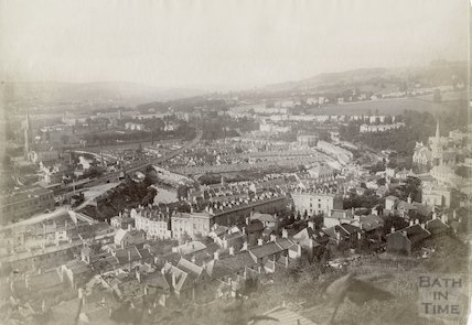 View of Bath from Beechen Cliff c.1885