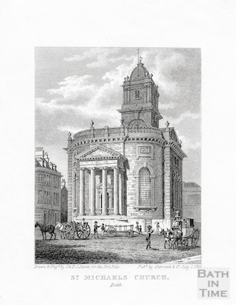 St Michael's church, Bath, 1824
