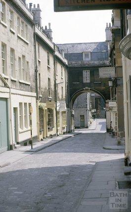 Looking down Queen Street, Bath July 1963