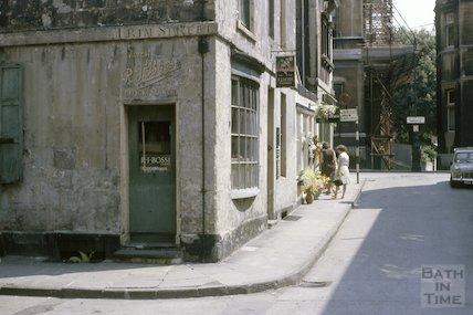 RJ Bossi clockmakers, Trim Street, Bath, July 1963