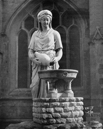 The Rebecca Fountain of Bath by Bath Abbey