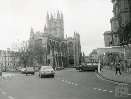 Bath Abbey and Orange Grove, 1987