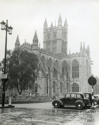 Bath Abbey Church view from the North East (Orange Grove), c.1950s