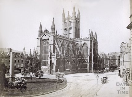 Bath Abbey Church from Orange Grove, c.1867