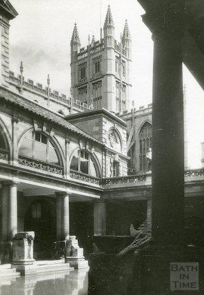 Bath Abbey from the Roman Baths