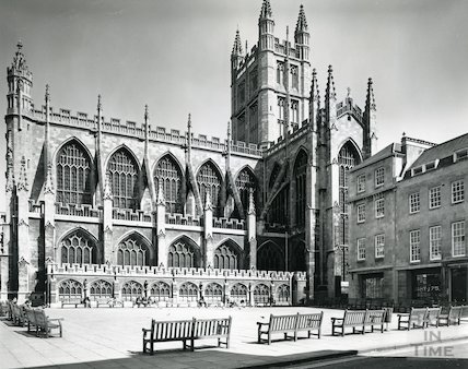 Bath Abbey from the south west, 1975/6