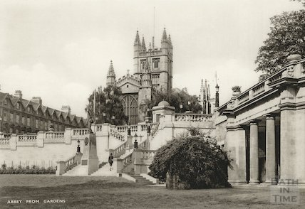 Bath Abbey from Parade Gardens, c.1920s