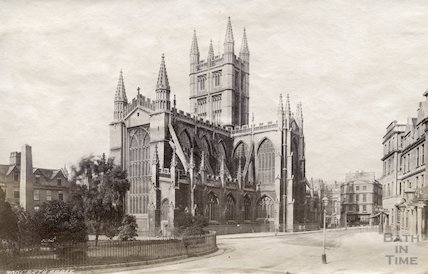 Bath Abbey from Orange Grove, Bath 1874