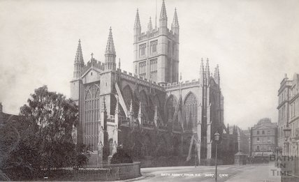 Bath Abbey from the North East corner of Orange Grove before 1895