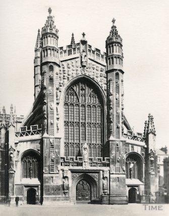 Bath Abbey west front c.1920
