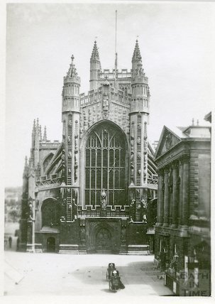 Bath Abbey west front c.1900