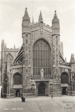 Bath Abbey west front c.1910