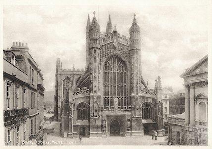 Bath Abbey west front, c.1920s
