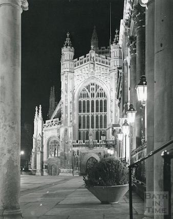Bath Abbey west front 1975/6