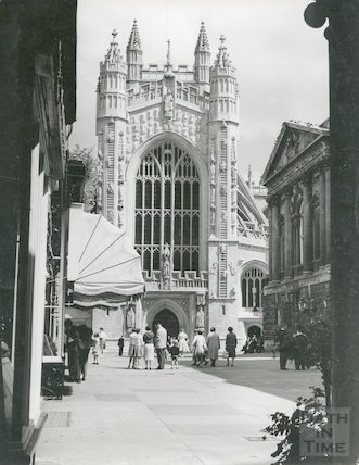Bath Abbey west front, c.1960s