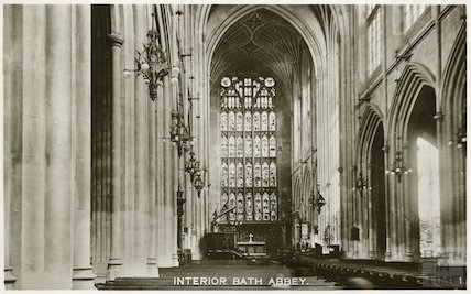 Bath Abbey interior looking east, c.1950s