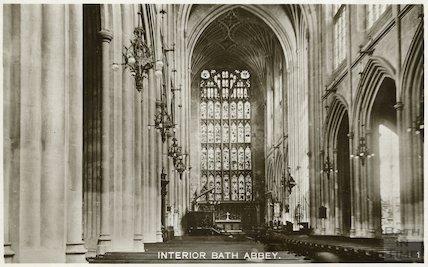Bath Abbey interior looking east, c.1950s