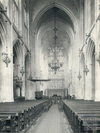 Bath Abbey Church nave looking east