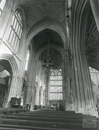 Installing the new lighting in Bath interior 1978