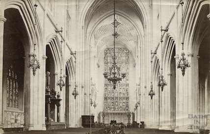 Bath Abbey east end, c.1890