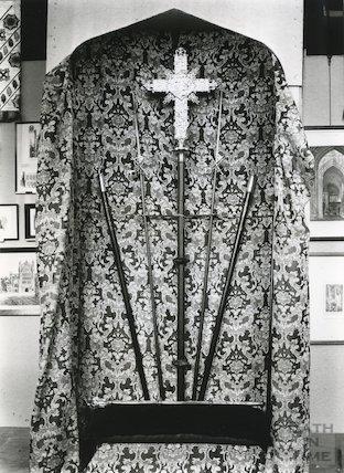 Bath Abbey processional cross etc. 1951