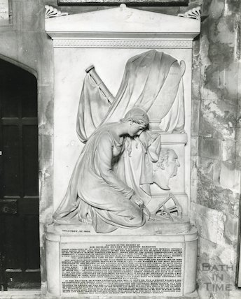 Bath Abbey Church monument to Sir Richard Bickerton