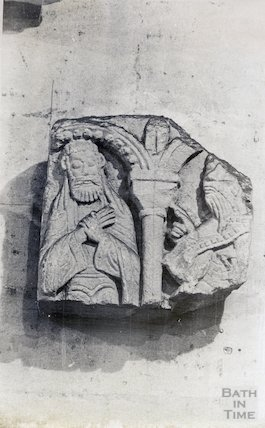 Sculpture fragments Bath Abbey vestry (12th century)