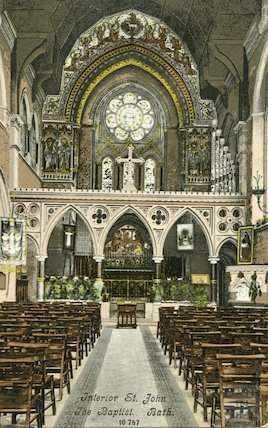 Interior of St. John the Baptist Church, c.1910