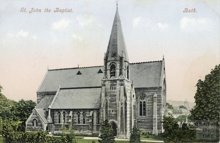 St. John the Baptist Church Bath, c.1910