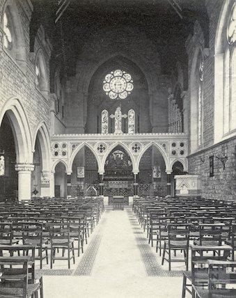 Interior of St. John's Church, Bathwick, c.1890