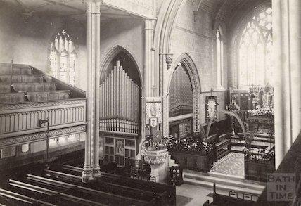 Interior of St. Mary's, Bathwick, c.1890