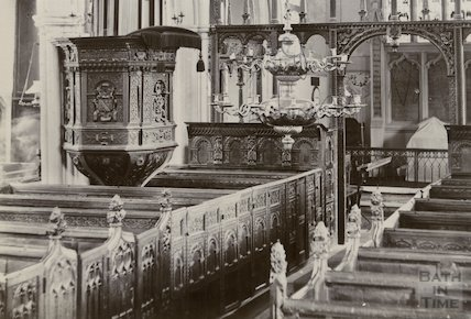 The pulpit at Croscombe Church, 1890