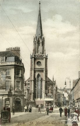 Postcard of St Michael's Church, Broad Street, posted 1906