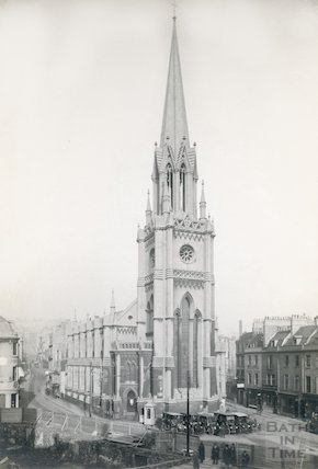 St. Michael's Church revealed by demolition of buildings on Bond Street, 1923