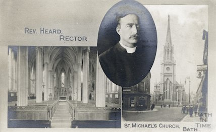St. Michael's Church and Rev. Heard, Rector, c.1920s