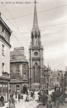 Postcard of St. Michael's Church, Bath, c.1904