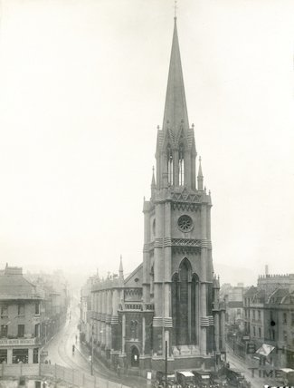 St. Michael's Church exterior showing tower, 1923